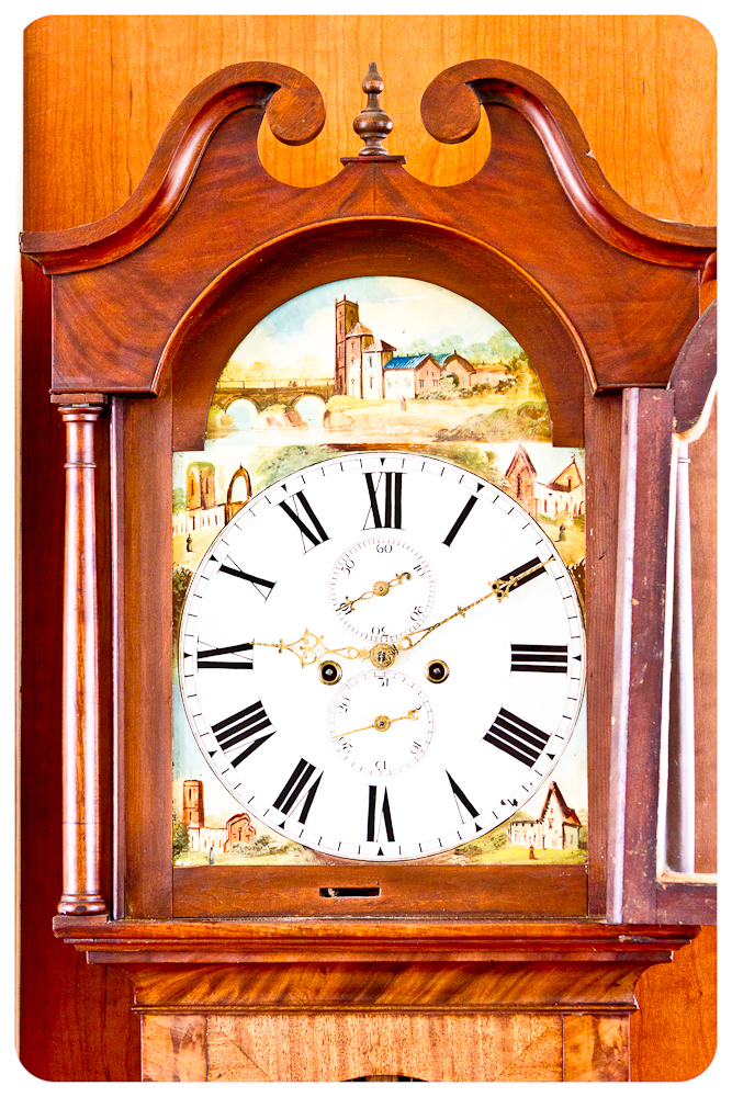1860 English Grand Father Tall Case Clock Dutch